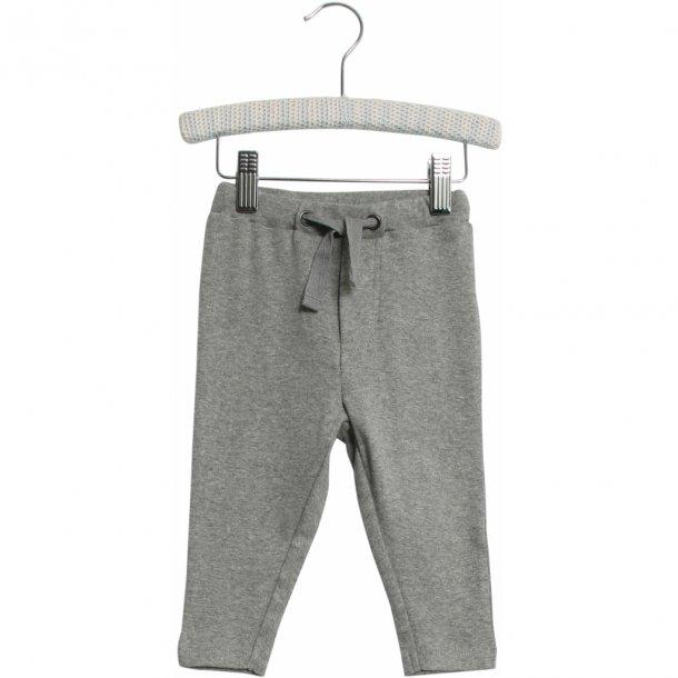 WHEAT - Baby joggingbukser i gråmelange. Manfred