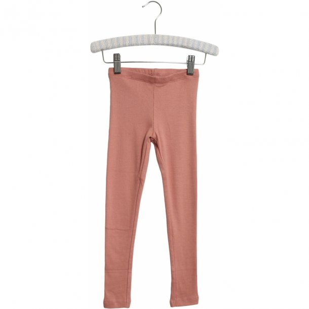 WHEAT - Rib leggings i soft peach rose
